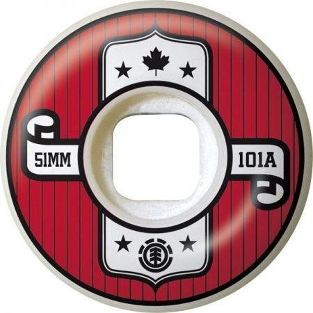 Element 51 mm Represent Tekerlek Seti yanında sticker paketi hediye. Element kaykay tekerlekleri en üst düzey urethane birleşimlerinden üretilmiştir. Normal bir tekerlekten çok daha hafifi ve uzun ömürlüdür. Bir sette 4 adet tekerlek vardır. Sertlik: 101A