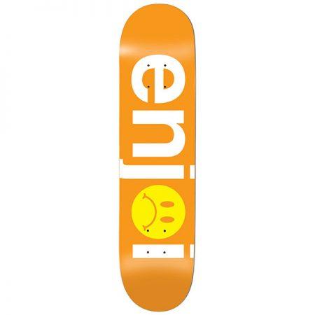 Enjoi-8,125-Frowny-Face-No-Brainer-HYB-Orange-Deck-Kaykay-Tahtası